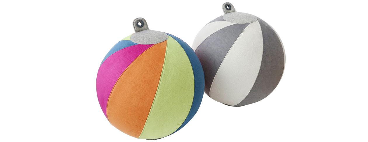 ActiveS Sittboll för aktivt sittande, multifärgad och grå.