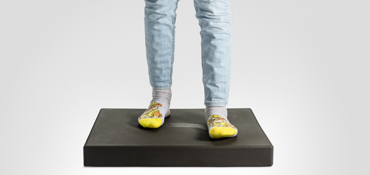 ActiveS - StandUp Active Balance mat, en balansmatta för aktivt stånde.