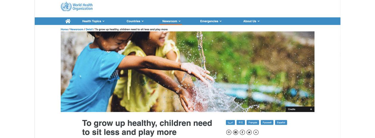 Nya riktlinjer från WHO: Så mycket bör små barn röra på sig